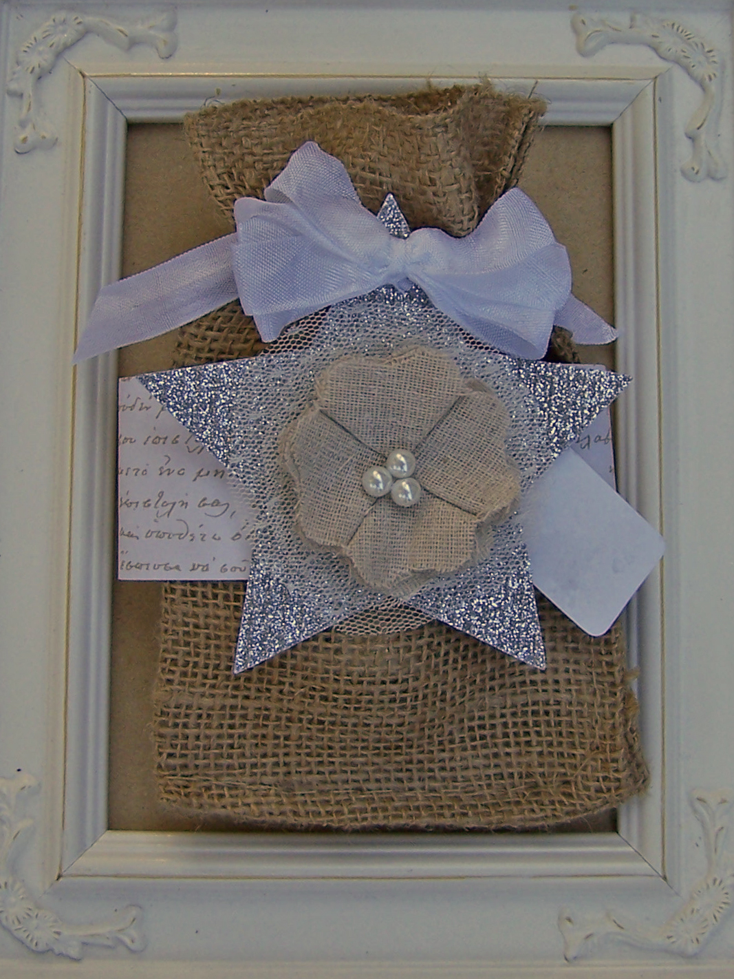 DIY Shabby Chic Burlap Gift Bags For Christmas