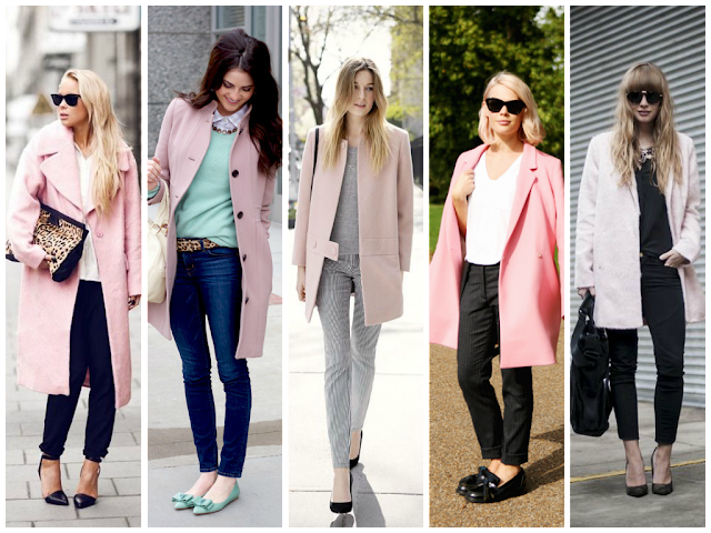 Street Style Soft Pink Coats