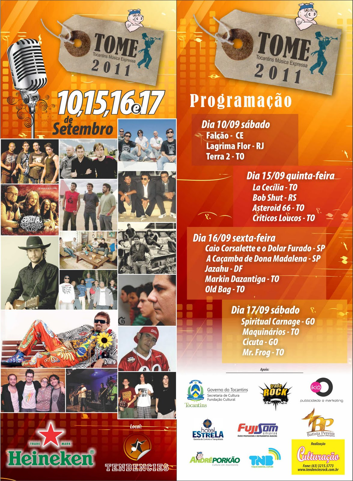 Flyer oficial - TOME – Tocantins Música Expressa 2011