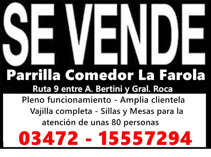 ESPACIO PUBLICITARIO: VENTA DE PARRILLA - COMEDOR