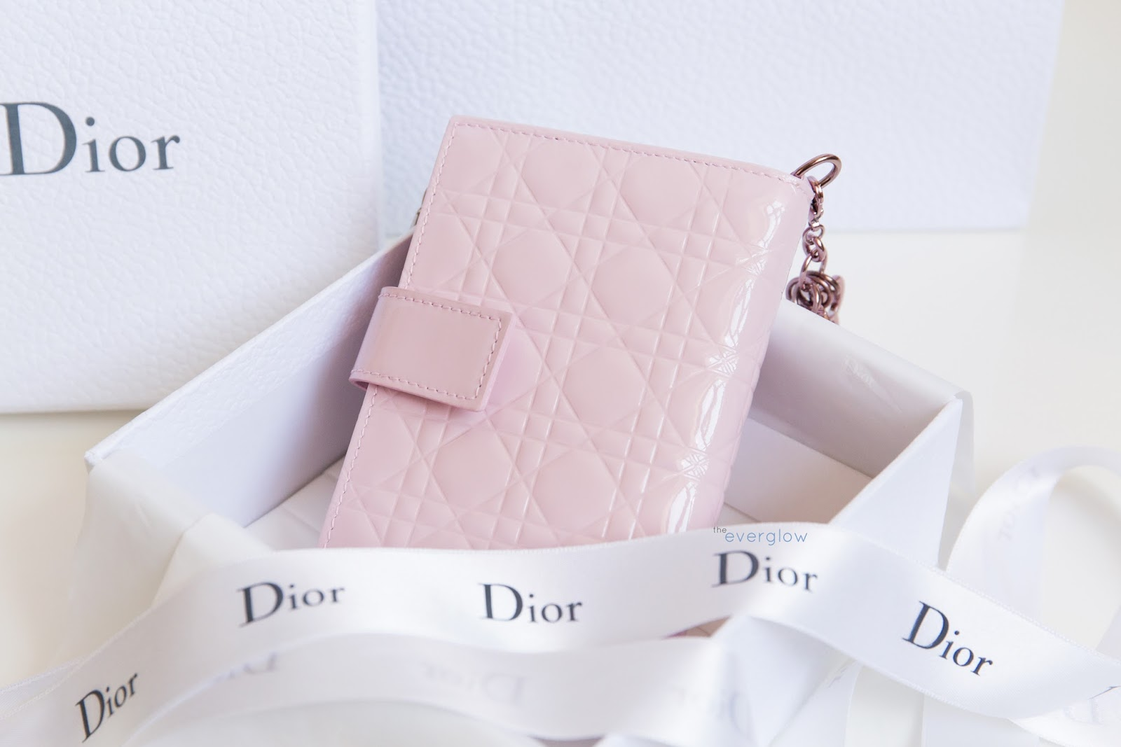 be1cd9f58b1 I also got this pretty Lady Dior patent leather wallet to carry with my  Diorama. I don t know what color it s called, but its light pink color and  smaller ...
