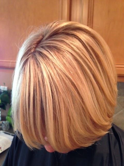 Golden Blonde Highlights Natural Demension