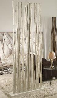 ramas decorativas, separadores, biombos, recibidor decorativo