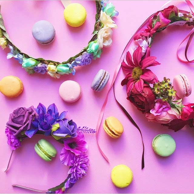 crown and glory candy shop floral crown macaron