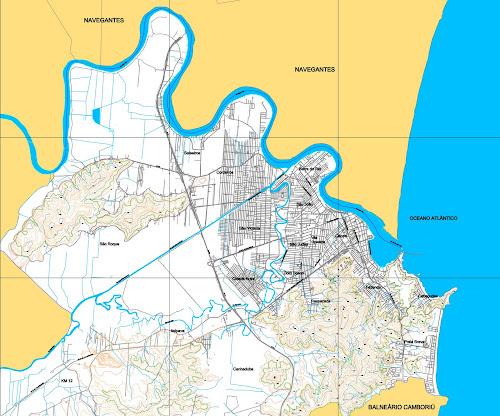 Mapa de Itajaí