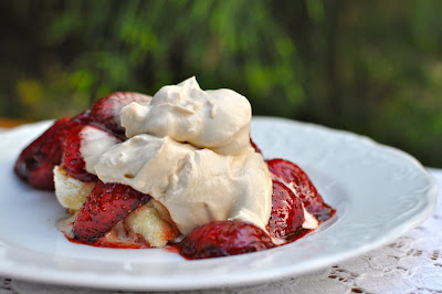 Pan-Roasted Balsamic Strawberries, Strawberry-Shortcake