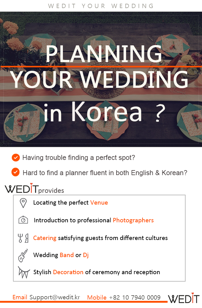 Are you looking for a Wedding Planner in Seoul Korea WEDIT