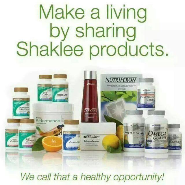 Make A living by Sharing Product Shaklee