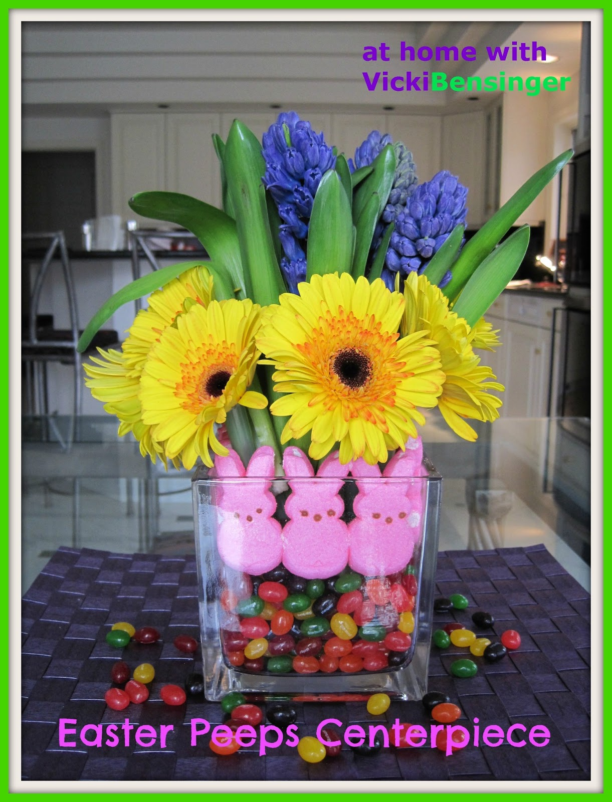 Easter Peeps Centerpiece At Home With Vicki Bensinger