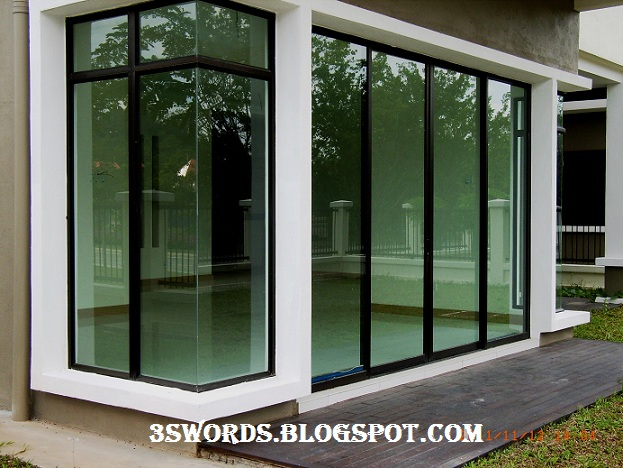Sliding glass door in selangor malaysia for Three panel sliding glass door