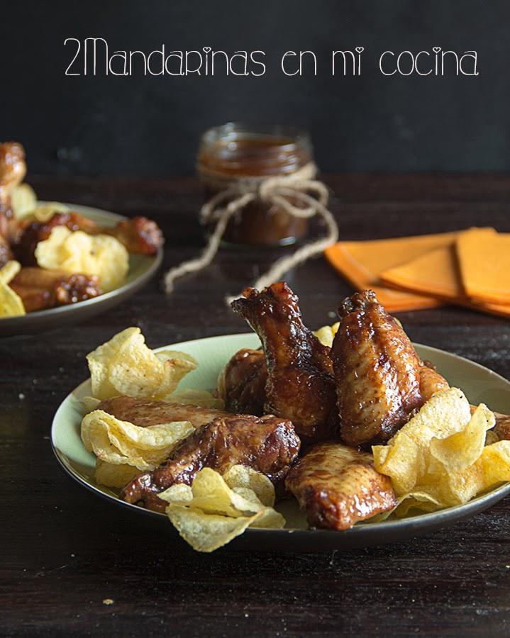Alitas de pollo a la barbacoa asadas en bolsas de albal