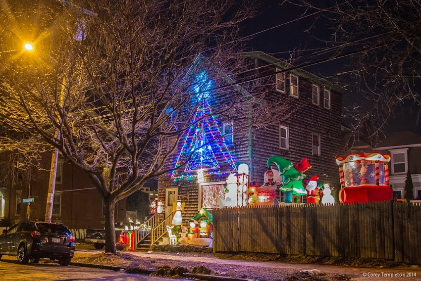 Portland, Maine USA December 2014 North Street christmas decorations photo by Corey Templeton