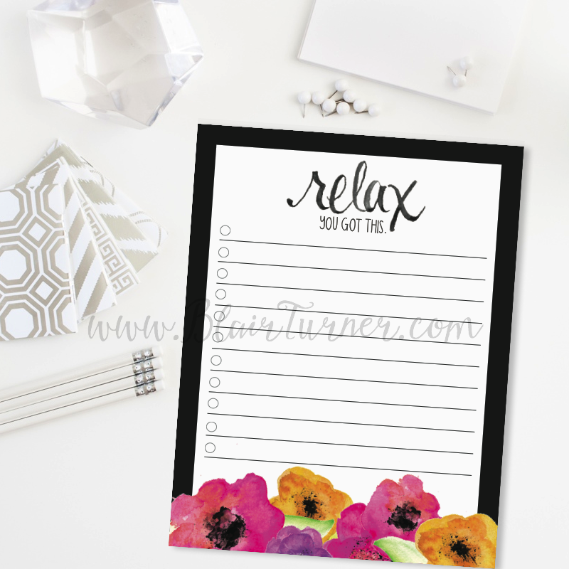 Relax: You Got This Notepads