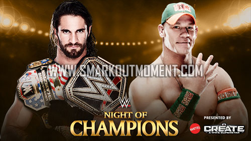 WWE Night of Champions 2015 US Title Match Cena vs Rollins
