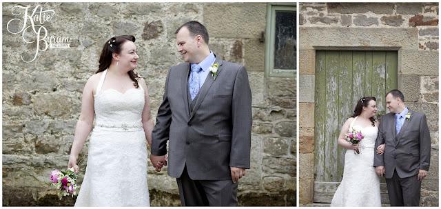 bride in window, bridal prep, vintage wedding, high house farm brewery wedding, northumberland wedding photography katie byram photography, rustic wedding