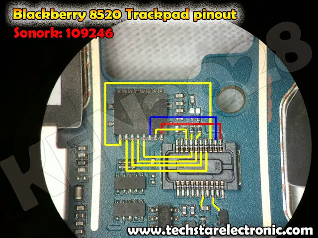 BLACKBERRY  8520 TRACKPAD PINOUT