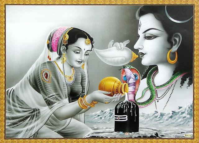Lord Shiva & Parvathi 4