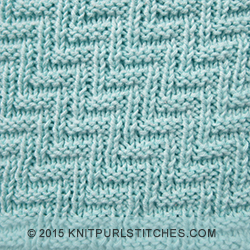 Knitting Stitches Same On Both Sides : Rib and Welt Diagonals - Pattern 2 Knit - Purl stitches