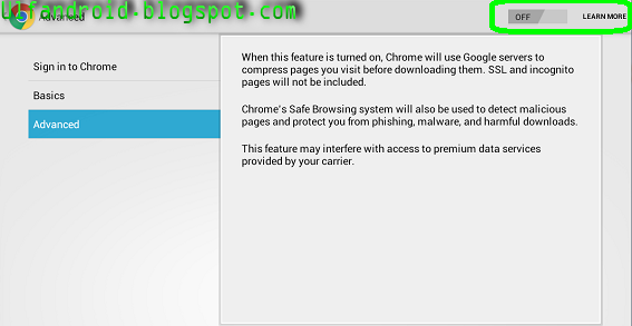 Cara Mempercepat/Meringankan Loading Chrome Di Android