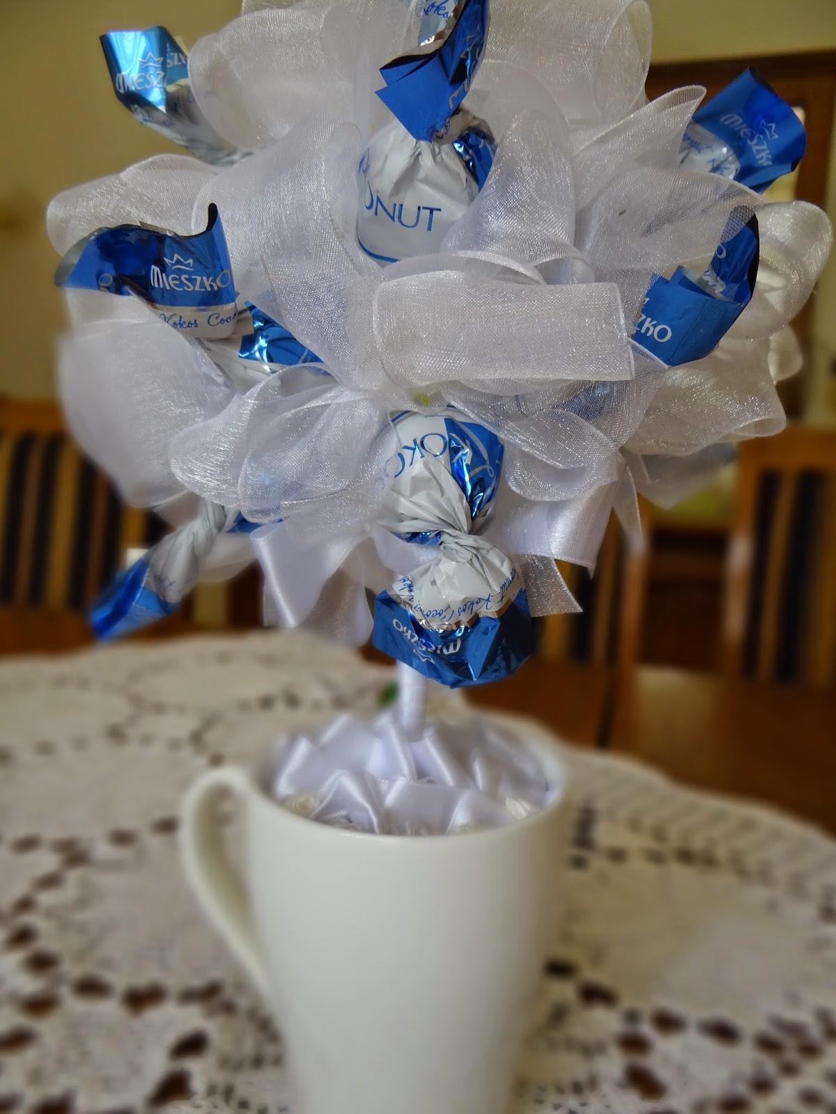 słodkie drzewko z cukierków Mieszko