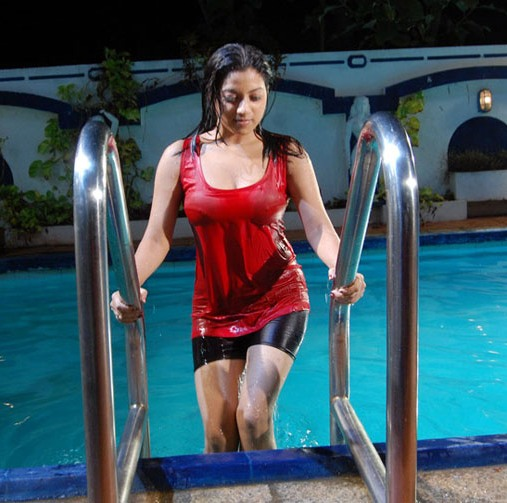 Keerthi chawla hot in wet dress