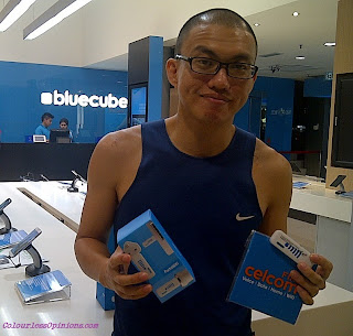 Redeemed PortaWIFI modem dongle at Celcom Blue Cube Sunway Pyramid