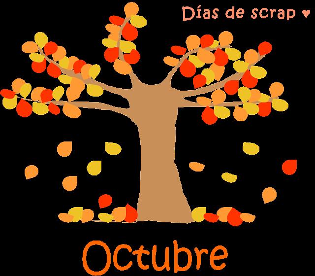 freebie Descarga calendario octubre de Días de scrap