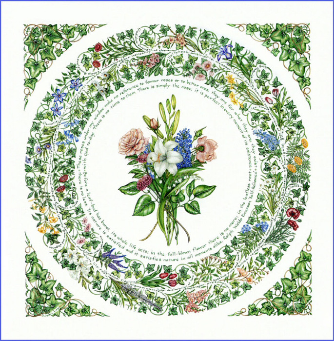 Картинки для декупажа цветы в круге