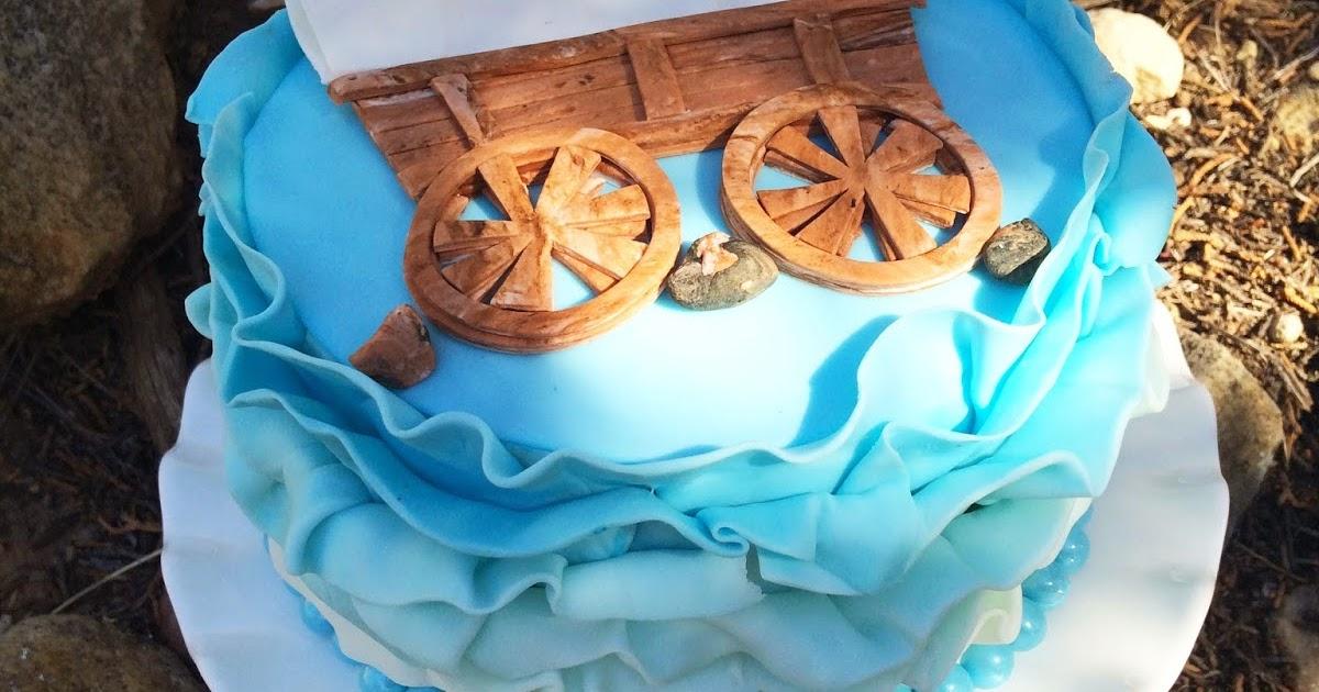 Worth Pinning Ruffled Covered Wagon Cake