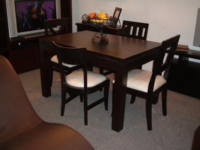 El artesano del mueble juegos de comedor - Mesas de comedor para espacios pequenos ...