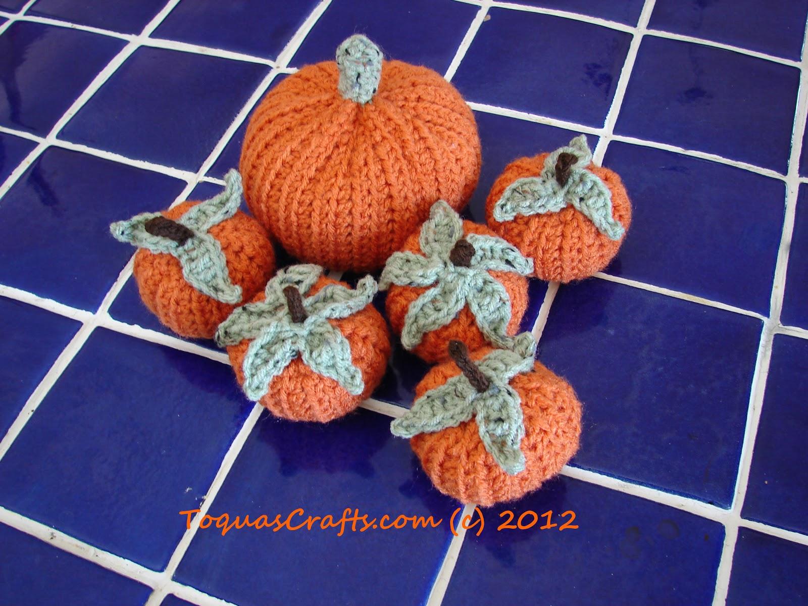 Toquas Crafts Crocheted Fall Pumpkins
