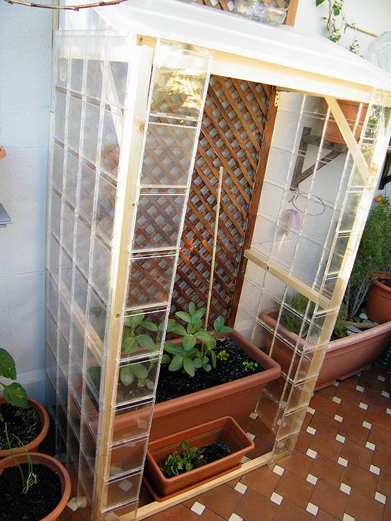 Mi invernadero casero mi huerto urbano - Invernaderos de terraza ...
