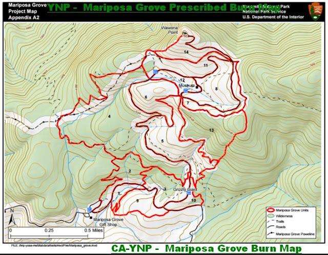 YNP -  Mariposa Grove Burn Map