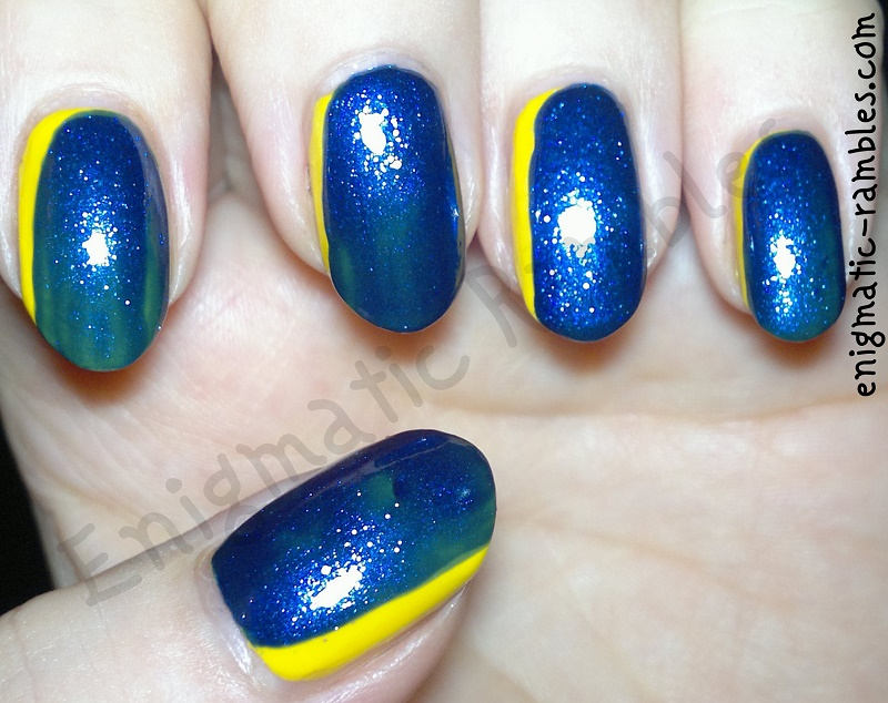 contrasting-colour-nails-max-factor-blue-odyssey-collection-2000-sherbet-lemon