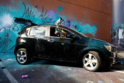 Graffiti Robot Car by Jeff Soto Seen On www.coolpicturegallery.us