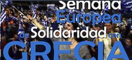Semana europea de solidaridad con Grecia