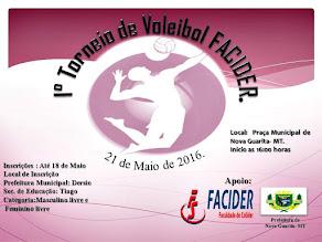 vem ai o primeiro torneio  de voleibol  facider  Nova Guarita