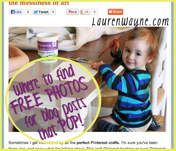 Where to find free images for blog posts == LaurenWayne.com