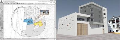 Proyecto para la sede de la casa hermandad de la cofradía Fusionadas en la plaza de Camas, Centro Histórico de Málaga
