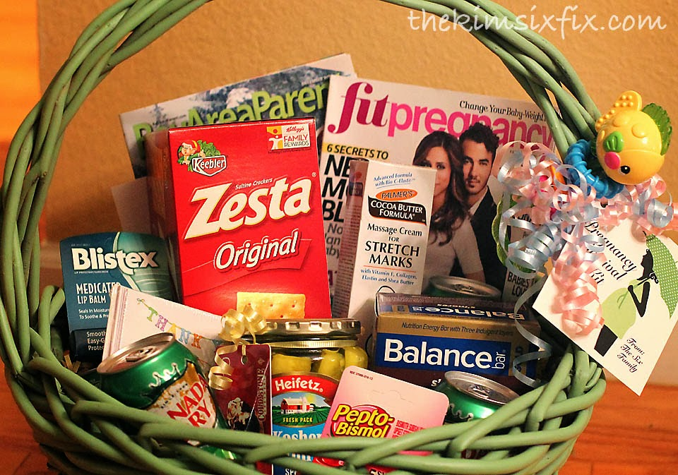 Pregnancy survival kit mom to be gift basket the kim six fix my fingers are crossed that her teacher has a easy uneventful pregnancy and hopefully this basket will help negle Image collections
