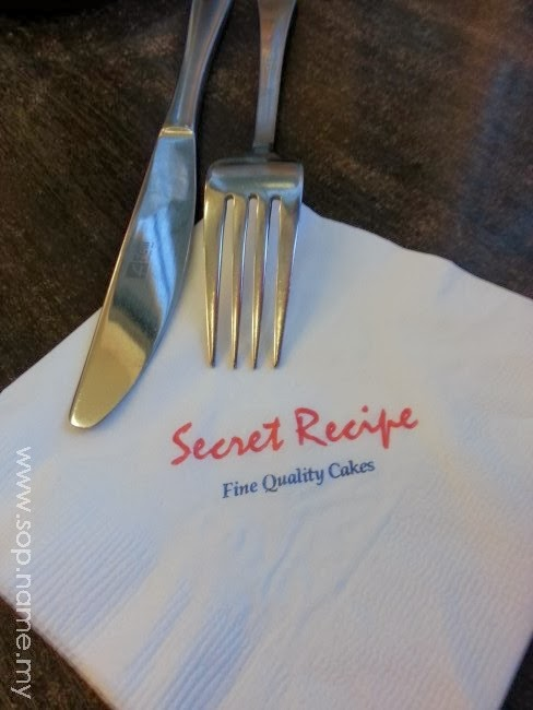 Minum petang di Secret Recipe Wangsa Walk
