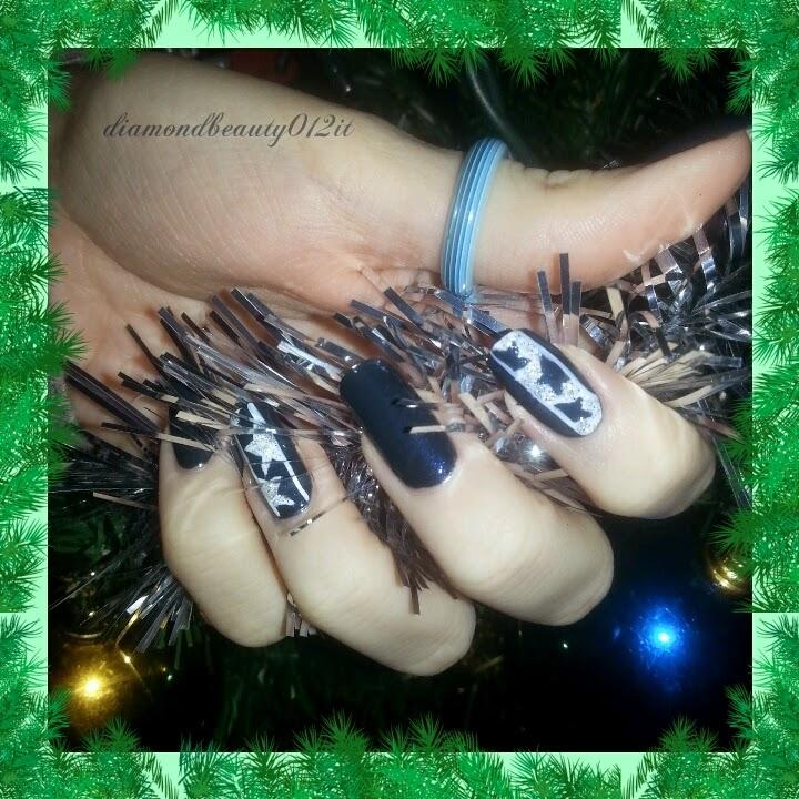 Nail art tutorial stelle dell'avvento