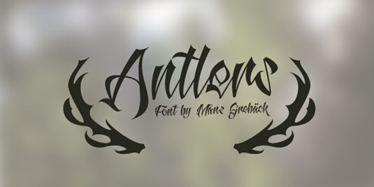 Antlers Tattoo Font  For A Name