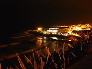 ericeira, beach, night