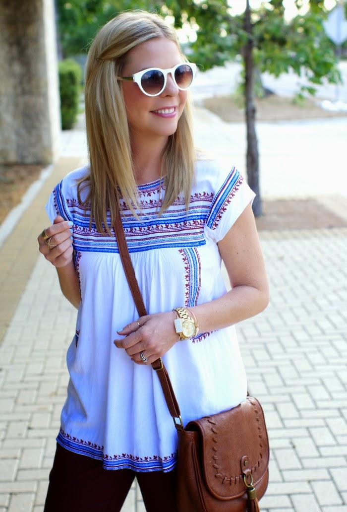 white rim sunglasses