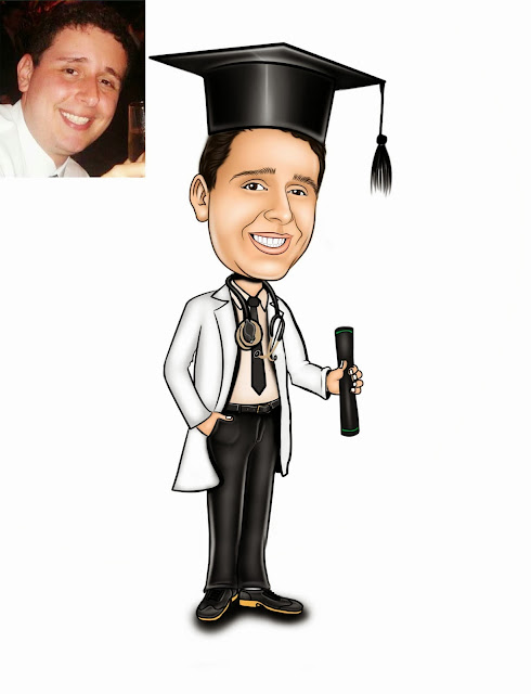 formatura de medicina com ricksu caricaturas