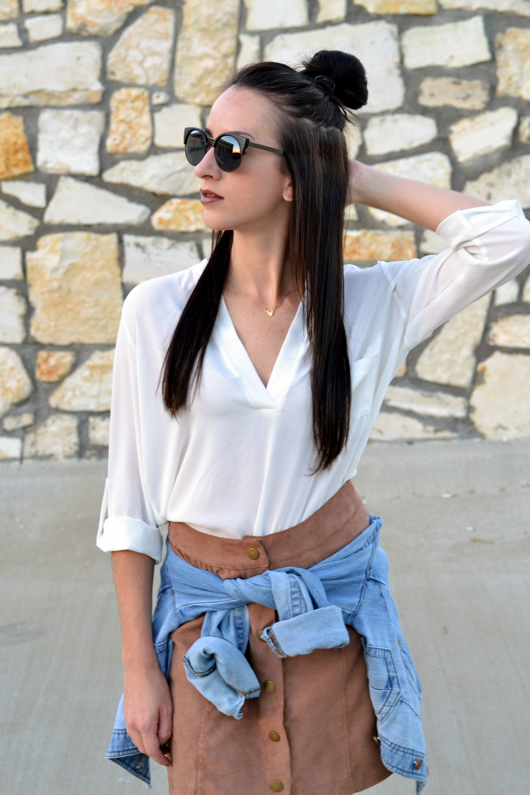 Suede_Skirt_Basic_Top