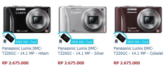 Harga Kamera Panasonic Lumix DMC-TZ20GC