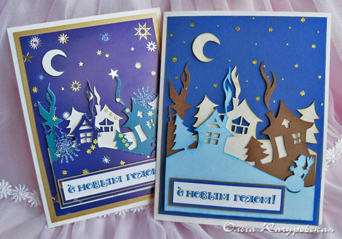 Рождественские открытки  мастер