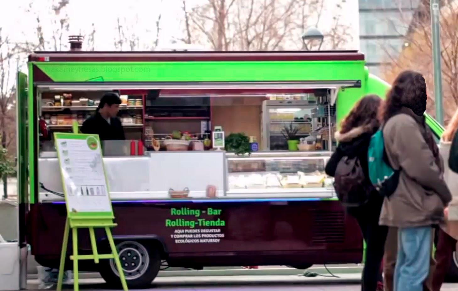rolling pita comida sobre ruedas